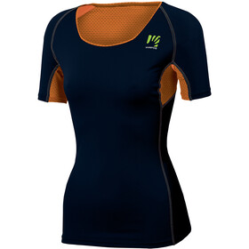 Karpos Sassongher Jersey Women, sky captain/orange fluo